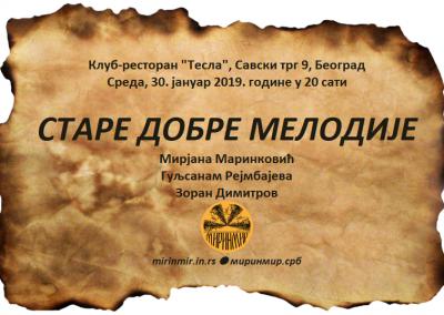 Тесла, плакат, 30.1.2019