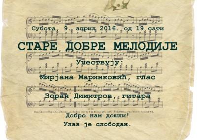 Stare dobre melodije najava
